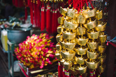 Gold money ornament ,Chinese New Year decoration Royalty Free Stock Photo