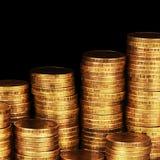 Gold money stack macro Royalty Free Stock Photos
