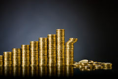 Gold money Royalty Free Stock Photo