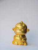 Gold monkey with gold coin for chinese new year. Gold monkey with gold coin and chinese words mean lucrative for chinese new year stock photography