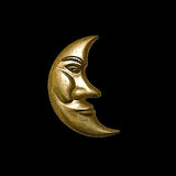Gold Moon. The face of the gold moon Royalty Free Stock Photos