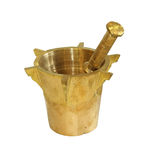 Gold mortar Royalty Free Stock Images