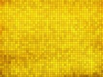 Gold mosaic background Stock Image