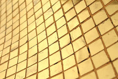 Gold mosaic background Royalty Free Stock Photos