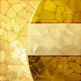 Gold mosaic background template. EPS 8. Vector file included Royalty Free Stock Image