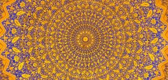 Gold mosaic dome in Tilya Kori Madrasah, Samarkand, Uzbekista Stock Photography
