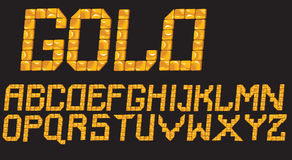 Gold mosaic letters Royalty Free Stock Photos