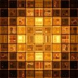 Gold mosaic Royalty Free Stock Photo