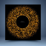 Gold geometric mosaic abstract background royalty free illustration