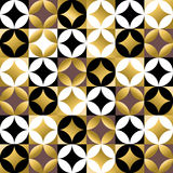 Gold mosaic tile seamless pattern in vintage style Royalty Free Stock Photos