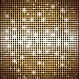 Gold mosaic vector abstract background with lights. Well-organized layers stock illustration
