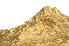 Gold mountain.3D illustration. A gold mountain. 3D illustration vector illustration