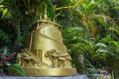 Gold mountain model Stock Photos