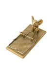 Gold mouse trap. Royalty Free Stock Images