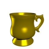 Gold mug isolated Royalty Free Stock Photo