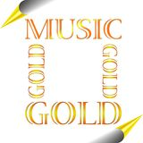 gold music Royaltyfri Foto
