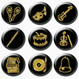 Gold music instrument Stock Photography