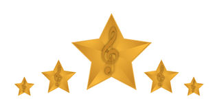 Gold music stars illustration design Stock Photography