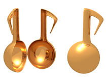 Gold music toy open Royalty Free Stock Images