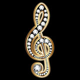 Gold Musical Notes And Diamonds Stock Image