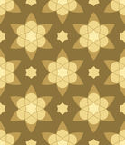 Gold muslim  abstract  flowers seamless pattern. Gold muslim  abstract  flowers seamless pattern  for design Stock Photos