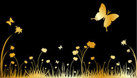Gold nature vector. Composition illustration Stock Photos