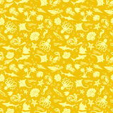 Gold Nautical Pattern Stock Images