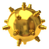 Gold naval mine Royalty Free Stock Photo
