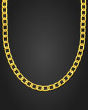 Gold necklace. On black background. Vector illustration royalty free illustration