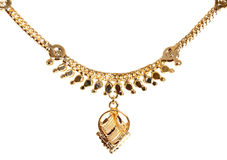 Gold necklace Royalty Free Stock Photo
