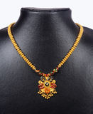Gold Necklace. Indian Gold Necklace with Details Royalty Free Stock Photos