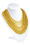 Gold necklace Royalty Free Stock Image