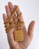Gold necklace Stock Photos