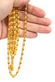 Gold necklace Stock Images