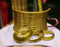 Gold necklace, Karen Long Neck, Thailand Stock Photography