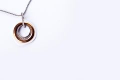 Gold necklace with a stone Stock Photography