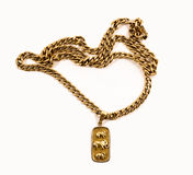 Gold necklace Royalty Free Stock Photography