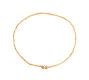 Gold necklace. On white background Stock Images