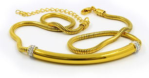 Gold necklace for women - Luxury gift Royalty Free Stock Photography