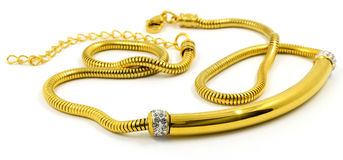 Gold necklace for women - Luxury gift Stock Images