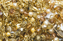 Gold necklaces Stock Images