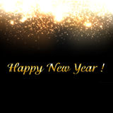Gold New Year Background With Blur Royalty Free Stock Images