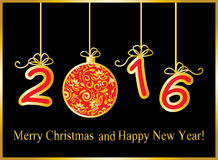 Gold New Year background Royalty Free Stock Photos