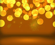 Gold New Year Background Stage. Image vector illustration