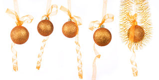 The gold new year ball Stock Images