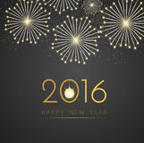 Gold new year on black background vector design. Stock Photo