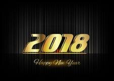 Gold New Year 2018 Luxury Symbol Stock Image