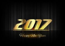 Gold New Year 2017 Luxury Symbol Stock Photography