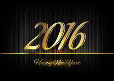 Gold New Year 2016 Luxury Symbol Stock Photography