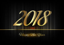 Gold New Year 2018 Luxury Symbol Stock Photos